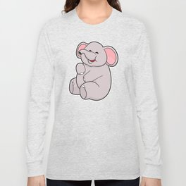 Funny Elephant Long Sleeve T-shirt