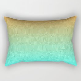 Blue and Orange Ombre - Flipped Rectangular Pillow
