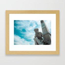 Sky/Statue#2 Framed Art Print