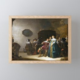 Anthonie Palamedesz A Merry Company Framed Mini Art Print