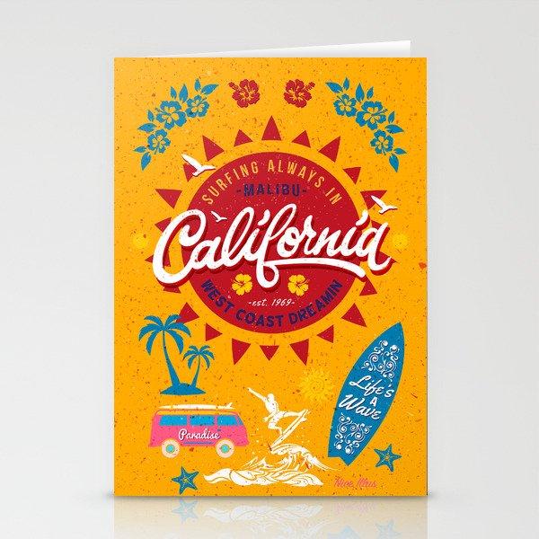 California West Coast Dreamin Stationery Cards