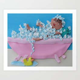 Tubby time Art Print