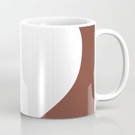 Heart (White & Brown) Coffee Mug