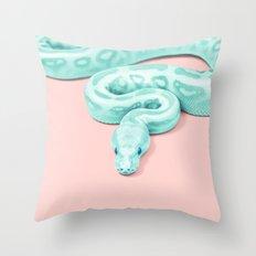 Snake Green Throw Pillow