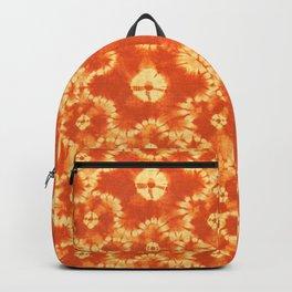 tie dye floral in hot orange Backpack