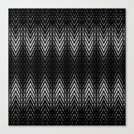 Op-Art Black and White Tribal Arrowhead Pattern Canvas Print