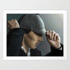 Sherlock and his deerstalker Art Print