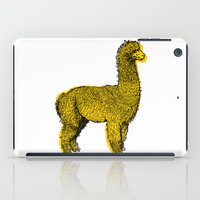 alpaca iPad Cases featuring huacaya alpaca by youareconstance