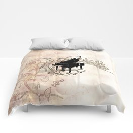 Music, piano with key notes and clef Comforters