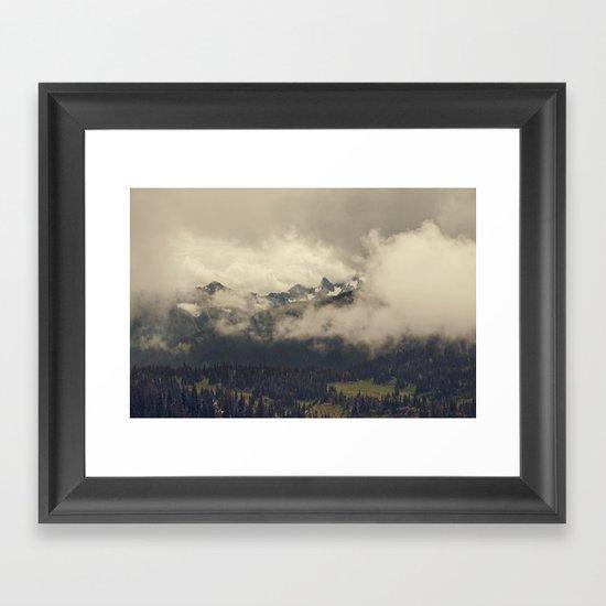 Mountains through the Fog Framed Art Print