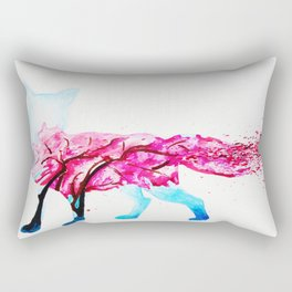 Cherry Red Fox Rectangular Pillow