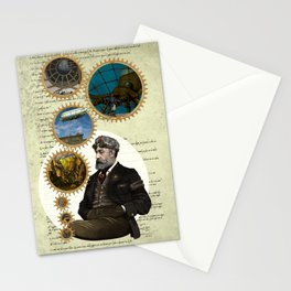 Jules Verne, a Steampunk vision Stationery Cards