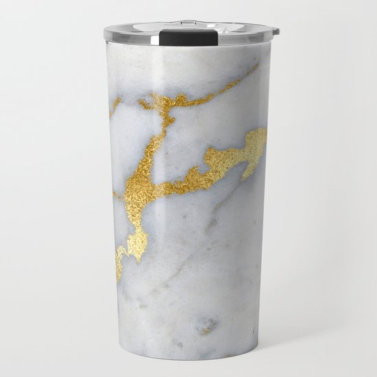 White and Gray Marble and Gold Metal foil Glitter Effect by originalaufnahme