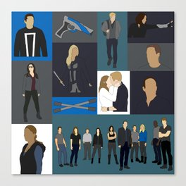 Agents of SHIELD - Minmalist Canvas Print