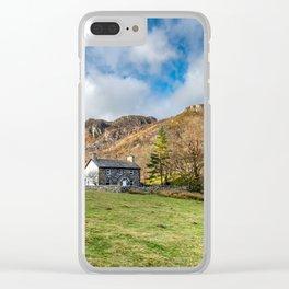Crafnant Lake Cottage Clear iPhone Case