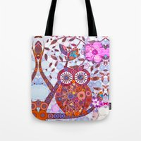 discount Tote Bags featuring If Klimt Painted An Owl :) Owls are darling birds! by Love2Snap
