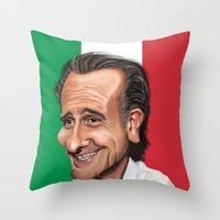 world cup Throw Pillows featuring  Cesare Prandelli World Cup by Michael Paci
