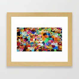 Sticker overload Framed Art Print