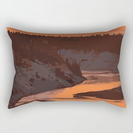 Twin Falls Gorge Territorial Park Rectangular Pillow