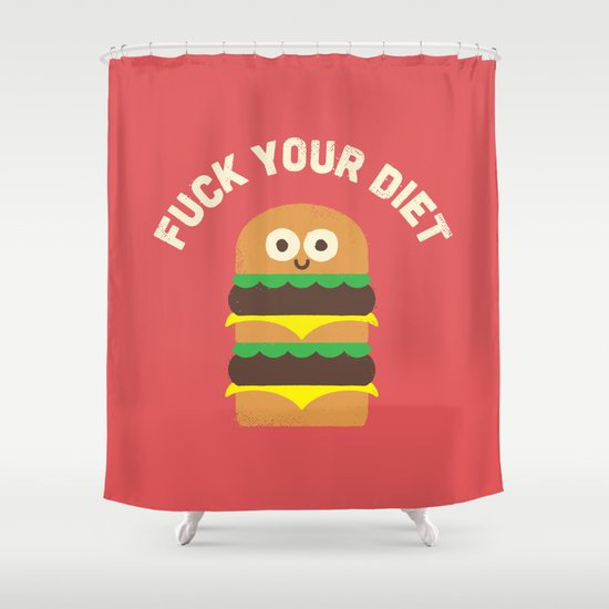 Discounting Calories Shower Curtain