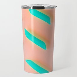 Neon Abstract Pasta Noodles Pattern (Color) Travel Mug