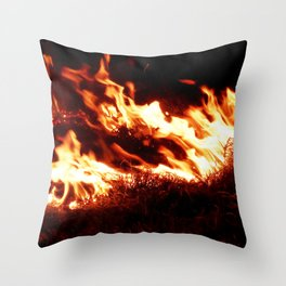 Fire Stream Throw Pillow