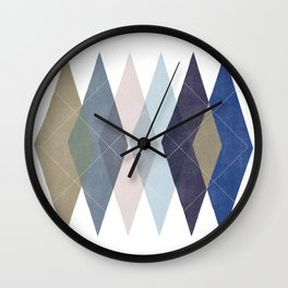 Not Your Father's Argyle Wall Clock