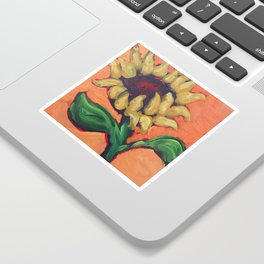 Orange Sunflower Sticker