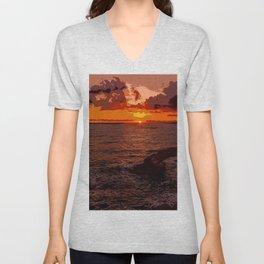 Travel to Sunset 02 Unisex V-Neck
