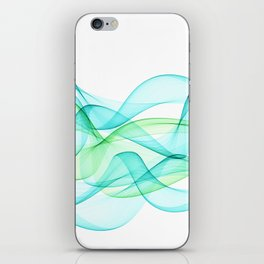 Sea Wave Pattern Abstract Aqua Blue Green Waves iPhone Skin
