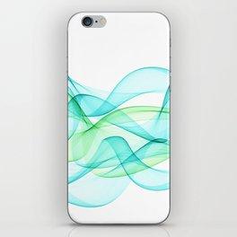 Sea Wave Pattern Abstract Aqua Blue Green Waves iPhone Skin