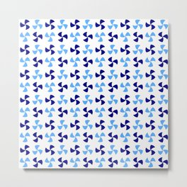 Optical pattern 173 blue Metal Print