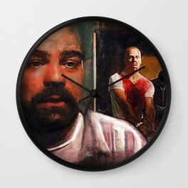 Escape From Sodom - Butch And Zed - Pulp Fiction Wall Clock