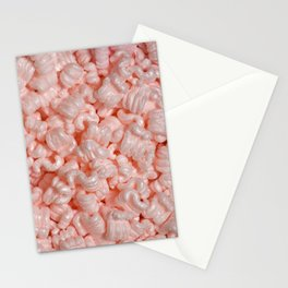 Pink Packing Peanuts Stationery Cards