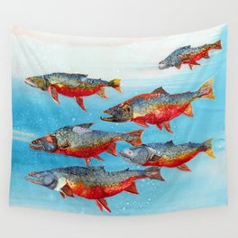 Arctic char - Alcohol Ink Wall Tapestry