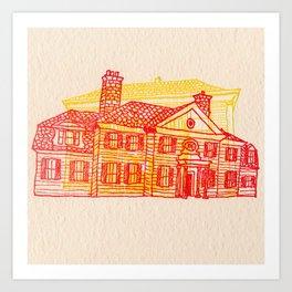 Letterpress Houses 2 Art Print