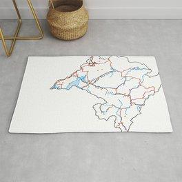 Montenegro Map Rug