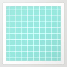 Grid Tiffany Blue Art Print