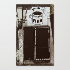 Café Fino Canvas Print