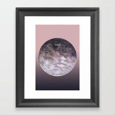 Quaoar lilac gradient Framed Art Print