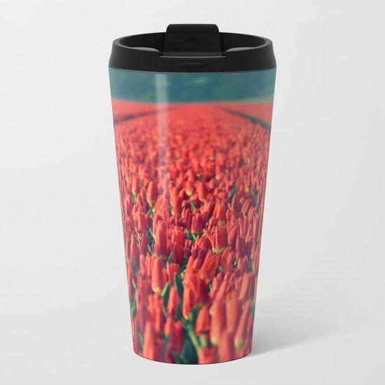 Tulips field #8 Metal Travel Mug