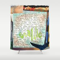 seahawks Shower Curtains featuring Seattle by Mary Klump Studio