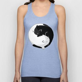 Yin Yang Cats Unisex Tank Top