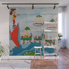 The Super Speed Funnel Wall Mural