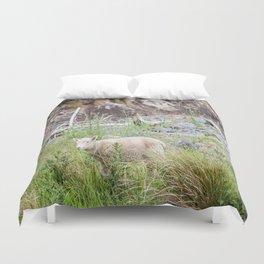Lamb in Flea Bay. New Zealand Duvet Cover