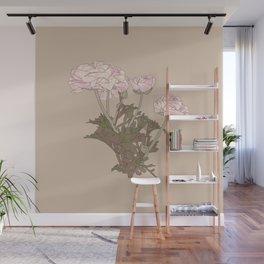 Ranunculus bunch Wall Mural
