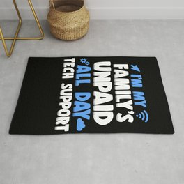 Funny Programmer Tech Support 1st Level Support Rug