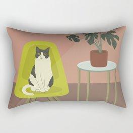 Tick Tock The Cat is Waiting Rectangular Pillow