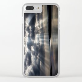 Sunbeams over Exmouth Clear iPhone Case