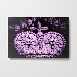 Santa Muerte Crown Metal Print